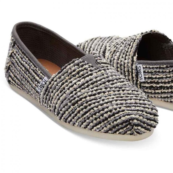 53b78e780769 Toms Shoes | Black Sequin Boucle Slipon Classic | Poshmark